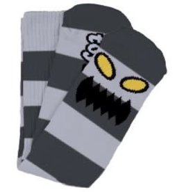 Toy Machine Toy Machine Monster Big Stripe Grey Crew Socks - One size