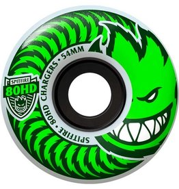 Spitfire Wheels Spitfire Wheels Classic Chargers 80HD Clear / Green 56mm (set of 4)
