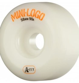 Mini-Logo Mini Logo Skateboards A-cut Wheels White 58mm 90a (Set of 4)