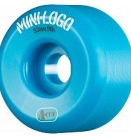 Mini-Logo Mini Logo Skateboards A-cut Wheels Blue 53mm 90a (Set of 4)