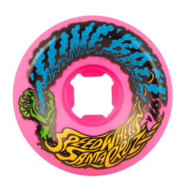 Santa Cruz Skateboards Slime Balls Vomit Mini Wheels Neon Pink 56mm 97a (set of 4)