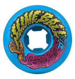 Santa Cruz Skateboards Slime Balls Vomit Mini Wheels Neon Blue 54mm 97a (set of 4)