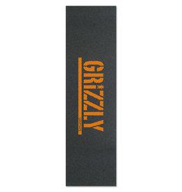 "Grizzly Grizzly - Stamp Print ORANGE Griptape 9"" x 33"""