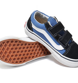 Vans Vans Old Skool V Kids Shoes - Navy/True White
