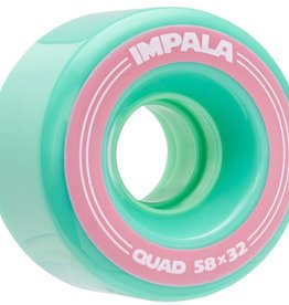 Impala Rollerskates Impala Wheels Quad Skate 58mm 82a (set of 4) - Blue