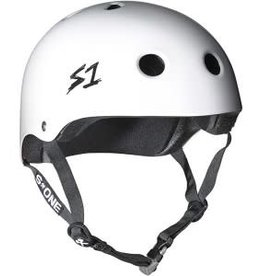 "S-One Helmets S-One Helmet Lifer CPSC Helmet White Gloss M (21.5"")"