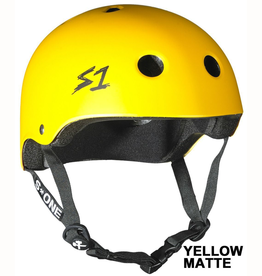 "S-One Helmets S-One Helmet Lifer CPSC Helmet Yellow Matte L  (22"")"