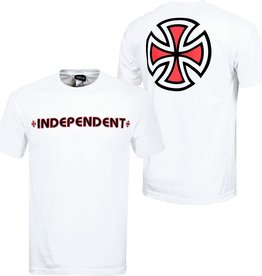 Independent Independent Bar/Cross Regular S/S Men's T-Shirt - White