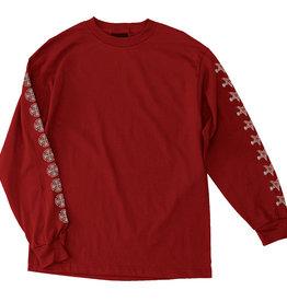 Independent Independent x Thrasher Pentagram Cross LS Shirt - Cardinal Red