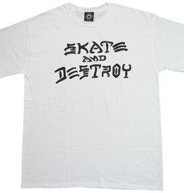 Thrasher Thrasher Skate and Destroy T-Shirt - White