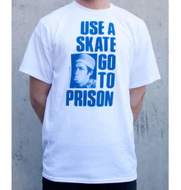 Thrasher Thrasher Use A Skate Go To Prison T-Shirt - White