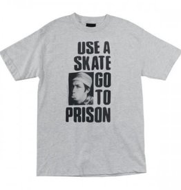 Thrasher Thrasher Use A Skate Go To Prison T-Shirt - Grey