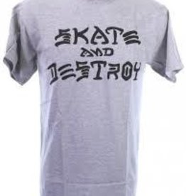Thrasher Thrasher Skate and Destroy T-Shirt - Grey