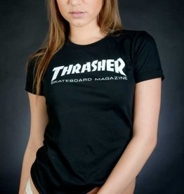 Thrasher Thrasher Skate Mag Logo Girls T-Shirt - Black