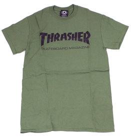Thrasher Thrasher Skate Mag Logo T-Shirt - Army Green XXL