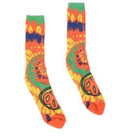Santa Cruz Skateboards OJ's Tie Dye Elite Crew Socks - Orange