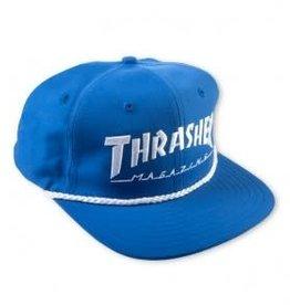 Thrasher Thrasher Rope Snapback Hat - Blue/White