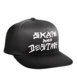 Thrasher Thrasher Skate And Destroy Snapback Hat - Black