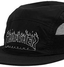 Thrasher Thrasher Flame Outline 5 Panel Hat - Black