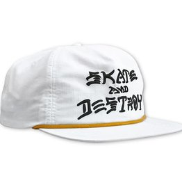 Thrasher Thrasher Skate And Destroy Puff Ink Snapback Hat - White
