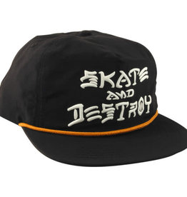 Thrasher Thrasher Skate And Destroy Puff Ink Snapback Hat - Black