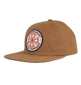 Independent Independent Red White Cross Snapback Hat - Brown