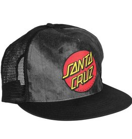 Santa Cruz Skateboards Santa Cruz Classic Dot Mesh Trucker Hat - Black/Tie Dye