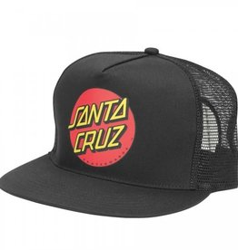 Santa Cruz Skateboards Santa Cruz Classic Dot Mesh Trucker Hat - Black/Black
