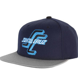 Santa Cruz Skateboards Santa Cruz Skateboards Santa Cruz OGSC Adjustable Starter Hat Navy/Grey