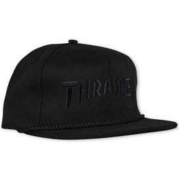 Thrasher Thrasher Rope Snapback Hat - Black