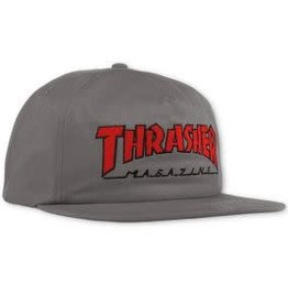 Thrasher Thrasher Outlined Snapback Hat - Grey/Red