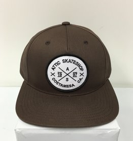 ATTIC ATTIC SnapBack Twill Hat - Brown