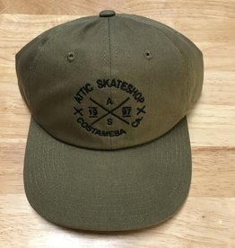 ATTIC ATTIC Dad Hat slider strapback adjustable in LODEN