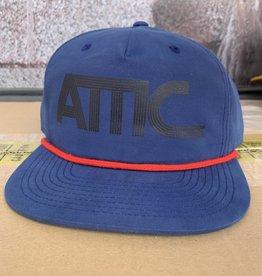 ATTIC Attic 70's Rope Snapback Hat - Navy