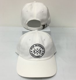 ATTIC ATTIC Dad Hat slider strapback adjustable in WHITE