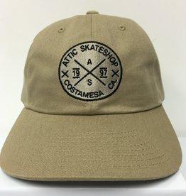 ATTIC ATTIC Dad Hat slider strapback adjustable in DRIFTWOOD