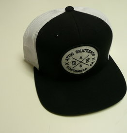 ATTIC ATTIC Trucker Mesh Snapback Hat - Black/White