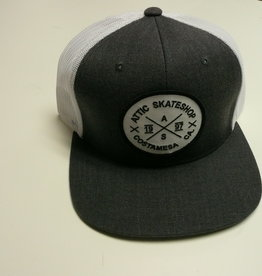 ATTIC ATTIC Trucker Mesh Snapback Hat - Heather Charcoal / White