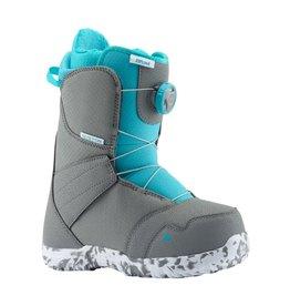burton Snowboards 2020 Burton Zipline Boa Youth Boots - Grey/Surf Blue
