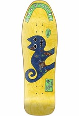 """New Deal New Deal Ed Templeton Cat SP Deck - Yellow - 9.75"""" x 31.5"""""""