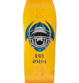 "Blind Blind Rudy Johnson Jock Skull Deck - Yellow - 9.875"" x 31.9"""