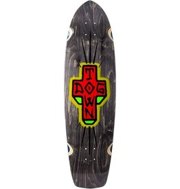 "Dogtown Dogtown Spray Cross Longboard Deck 9.375"" x 36.575"" - Black Stain"