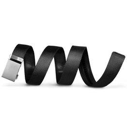 Thrasher Mission Belt Co. Mission 40mm Swat Black Belt - Silver Buckle -