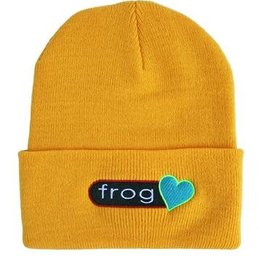 Frog Frog Perfect Heart Beanie - Yellow