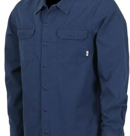 Vans Vans Off The Wall Geoff Rowley Workwear L/S Button-Up Shirt Black Iris - Large
