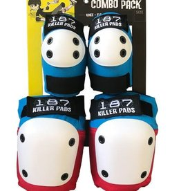 187 Killer Pads 187 Killer Pads Combo Pack Knee/Elbow - Red/White/Blue