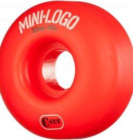 Mini-Logo Mini Logo Skateboards C-cut Wheels Red 52mm 101a (Set of 4)