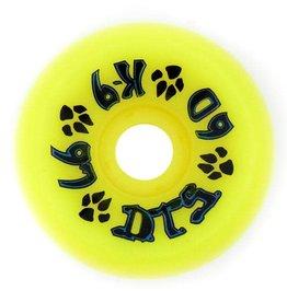 Dogtown Dogtown K-9 Wheels 60mm 97a (set of 4) Neon Yellow