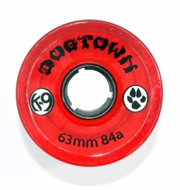 Dogtown Dogtown K-9 Cruiser Wheels 63mm 84a (set of 4) Clear Red