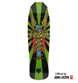 "Hosoi Skateboards Hosoi Skateboards - Wings Deck - Lime - 9"" x 32"""